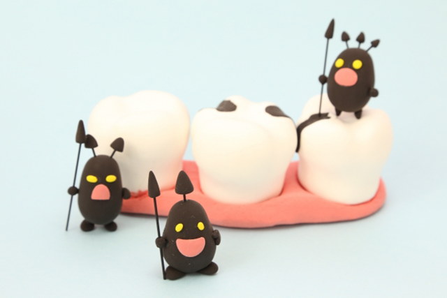 虫歯の出来やすい所
